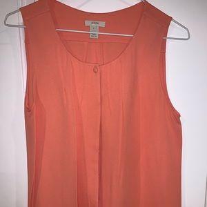 J.Crew silk sleeveless blouse